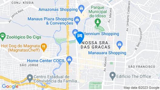 Hotel Express Vieiralves Map