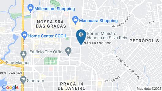 Blue Tree Premium Manaus Map