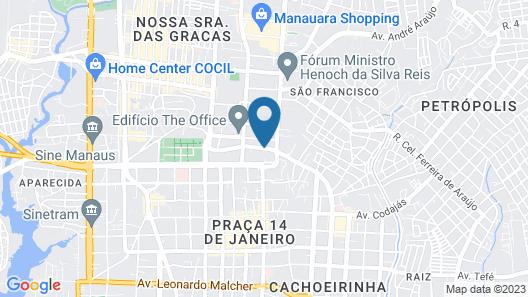 Hotel Intercity Manaus Map