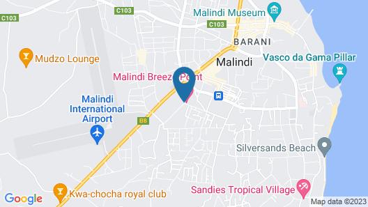 Malindi Breeze Point Apartments Map