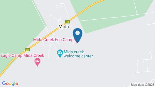 Mida Creek Eco Camp Map