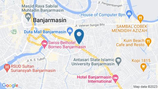 G'Sign Hotel Banjarmasin Map