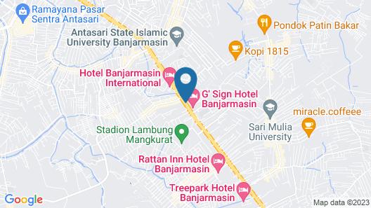 Best Western Kindai Hotel Map