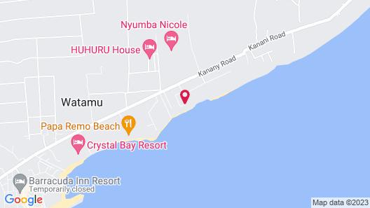 Mawe Resort Watamu Boutique Hotel Map
