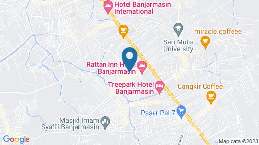 Sky Inn Banjar Indah Banjarmasin Map