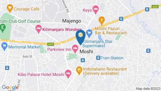 Nyumbani Hotels & Resorts - Moshi Map