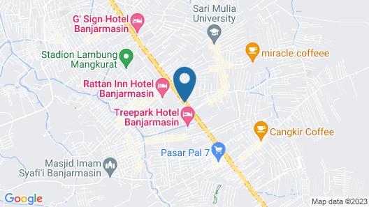 Zuri Express Banjarmasin Map