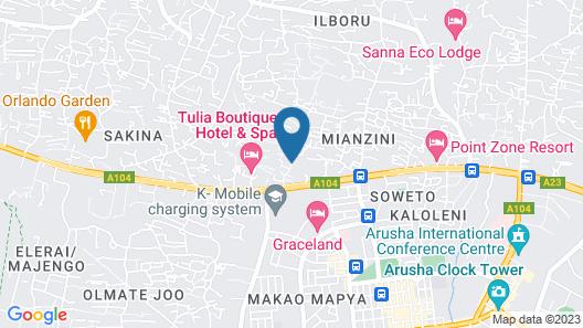 Ahadi Lodge Map