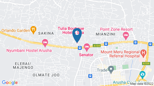 Tulia Boutique Hotel and Spa Map