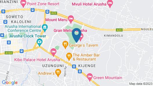 Gran Melia Arusha Map