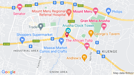 Four Points By Sheraton Arusha, The Arusha Hotel Map
