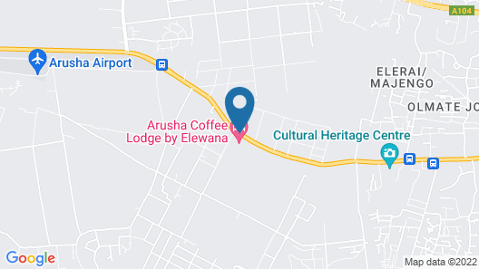 Elewana Arusha Coffee Lodge Map