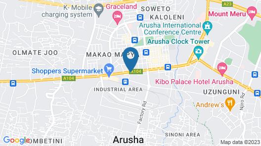 Arusha Backpackers Hotel - Hostel Map