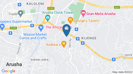 The African Tulip Hotel Map