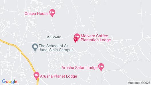 Moivaro Coffee Plantation Lodge Map