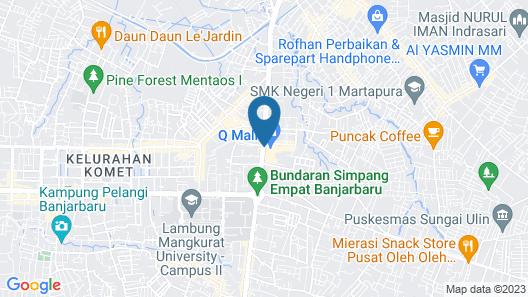 Grand Dafam Q Hotel Banjarbaru, DHM Syariah Map