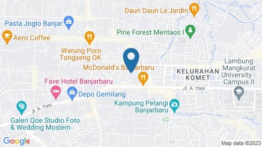 RedDoorz Syariah Plus @ Banjarbaru 2 Map
