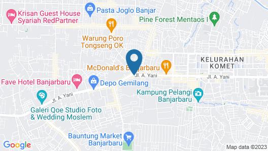 RedDoorz Syariah Plus @ Banjarbaru Map
