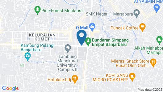 Hotel Roditha Banjarbaru Map