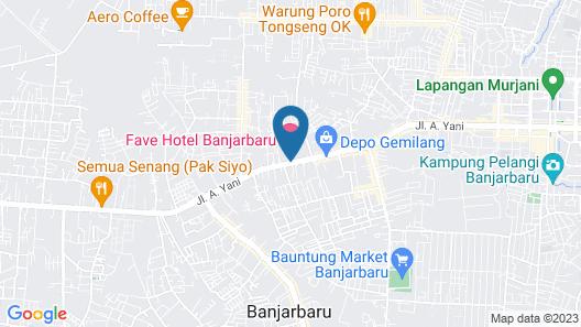 favehotel Banjarbaru - Banjarmasin Map