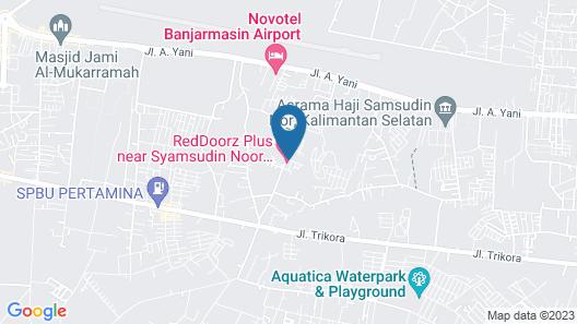 Diah Guest House Banjarbaru Map