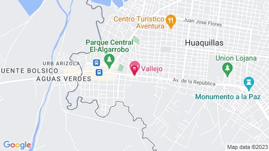 Vallejo Hotel Map