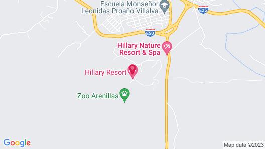 Hillary Nature Resort Spa Map