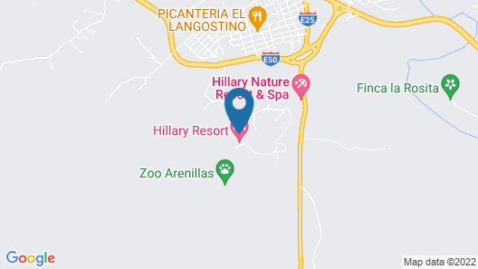 Hillary Nature Resort Spa Map