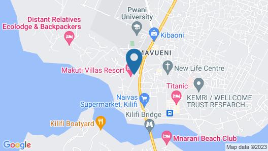 Makuti Villas Resort Map