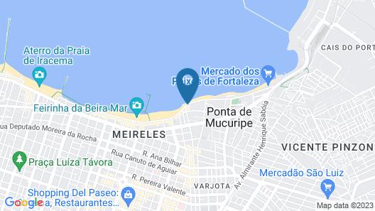 Blue Tree Towers Fortaleza Beira Mar Map