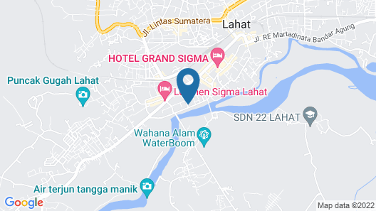 JAV Front One Hotel Lahat Map