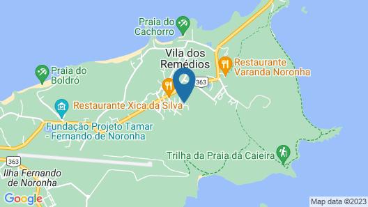 Pousada Maria Flor Noronha Map