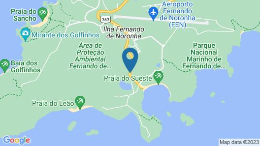 Pousada Maravilha Fernando de Noronha Map