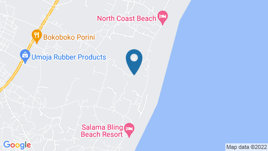 Dream of Africa Cottages Kanamai Map