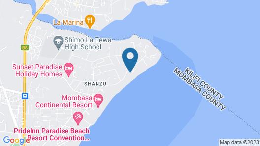 La Mera Beach Apartments Map
