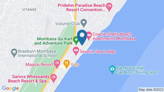PrideInn Paradise Beach Resort & Spa Map
