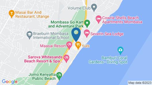 Kahama Hotel Mombasa Map