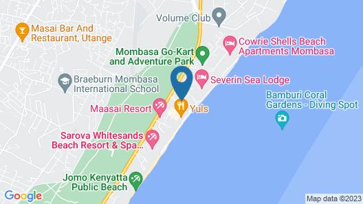 Kenya Bay Beach Hotel Map