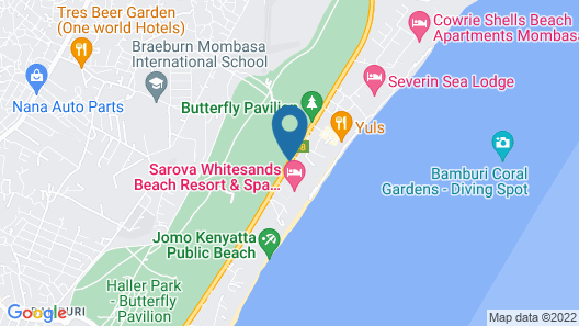 Travellers Beach Hotel & Club Map
