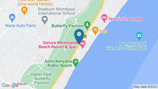 Sarova Whitesands Beach Resort & Spa Map