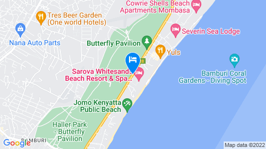 Sarova Whitesands Beach Resort & Spa Map