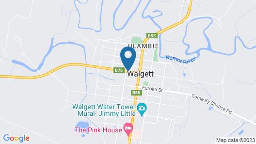 Coolabah Motel Walgett Map