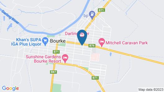 Darling River Motel Map