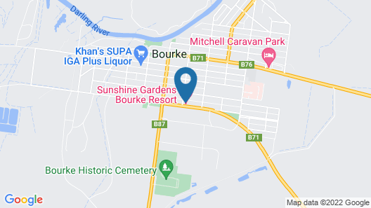 Sunshine Gardens Bourke Resort Map