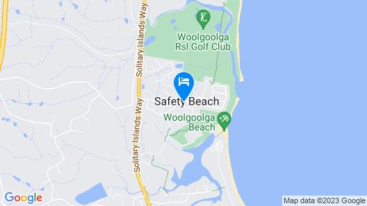 Safety Beach Ocean Bungalows Map