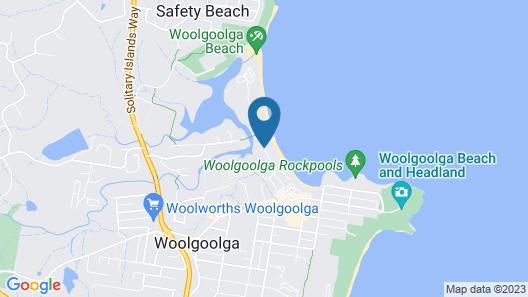 Woolgoolga Lakeside Holiday Park Map