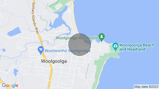 Beach Nest - Woolgoolga, NSW Map