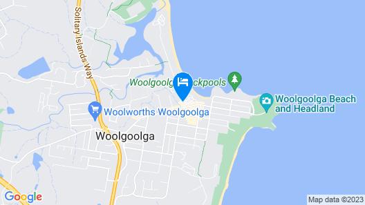 Woolgoolga Beach Holiday Park Map