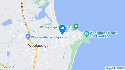 Beach Motel Woolgoolga Map