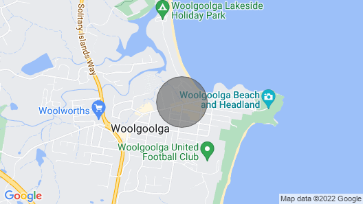 Fifty Meters to the Beach in the Heart of Woolgoolg Map